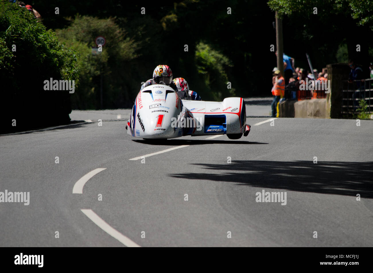 Birchall Brothers Isle of Man TT 2017 Stock Photo