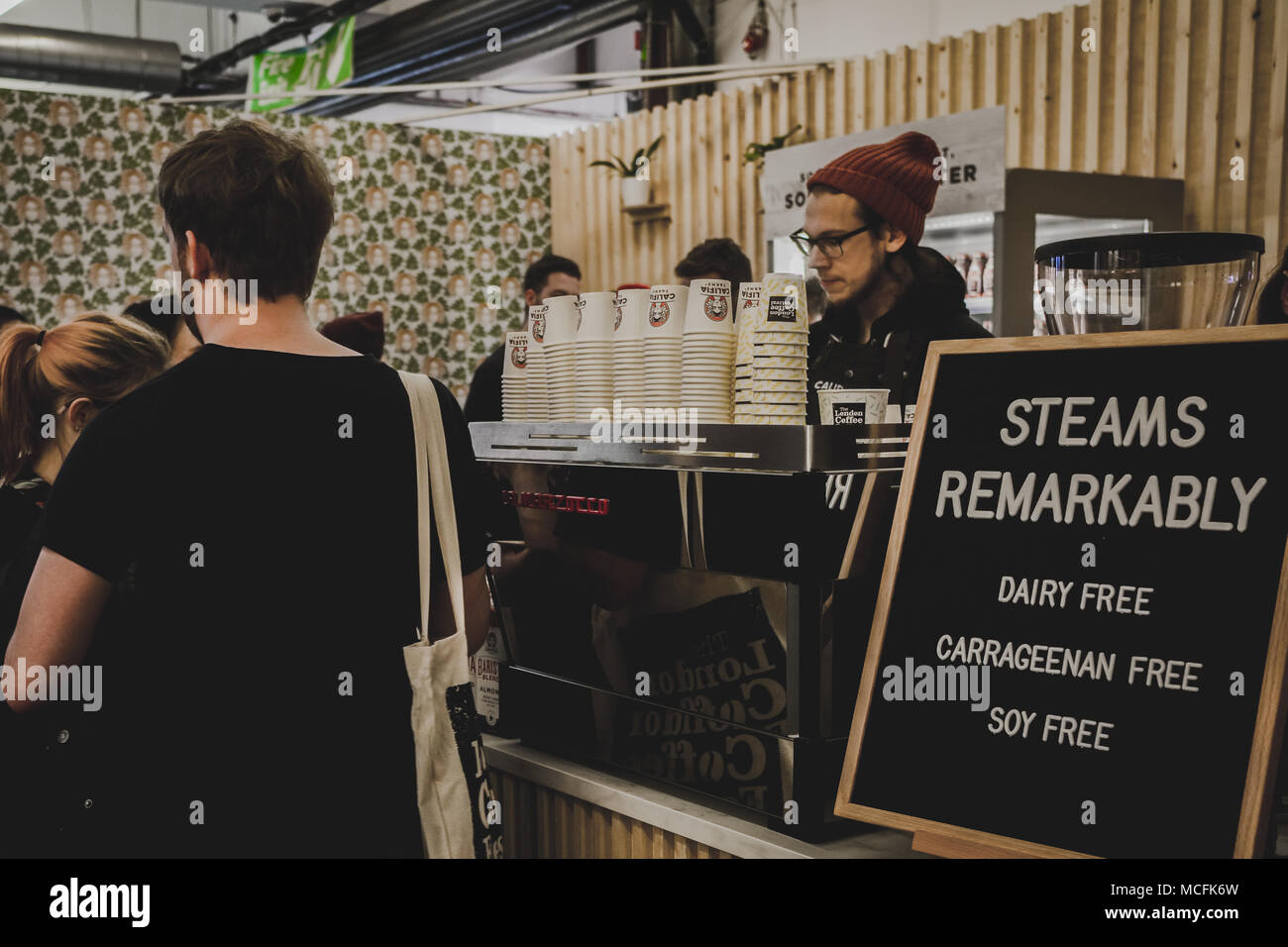 Coffee Stand At The London Coffee Festival April 2018