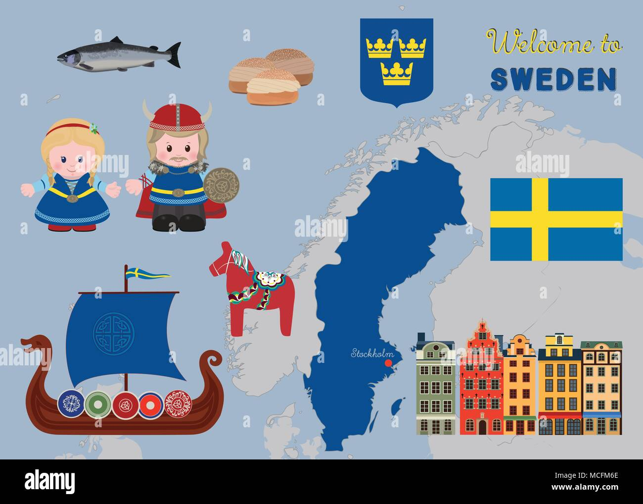 Welcome To Sweden Cartoon Characters Of Vikings In Ancient