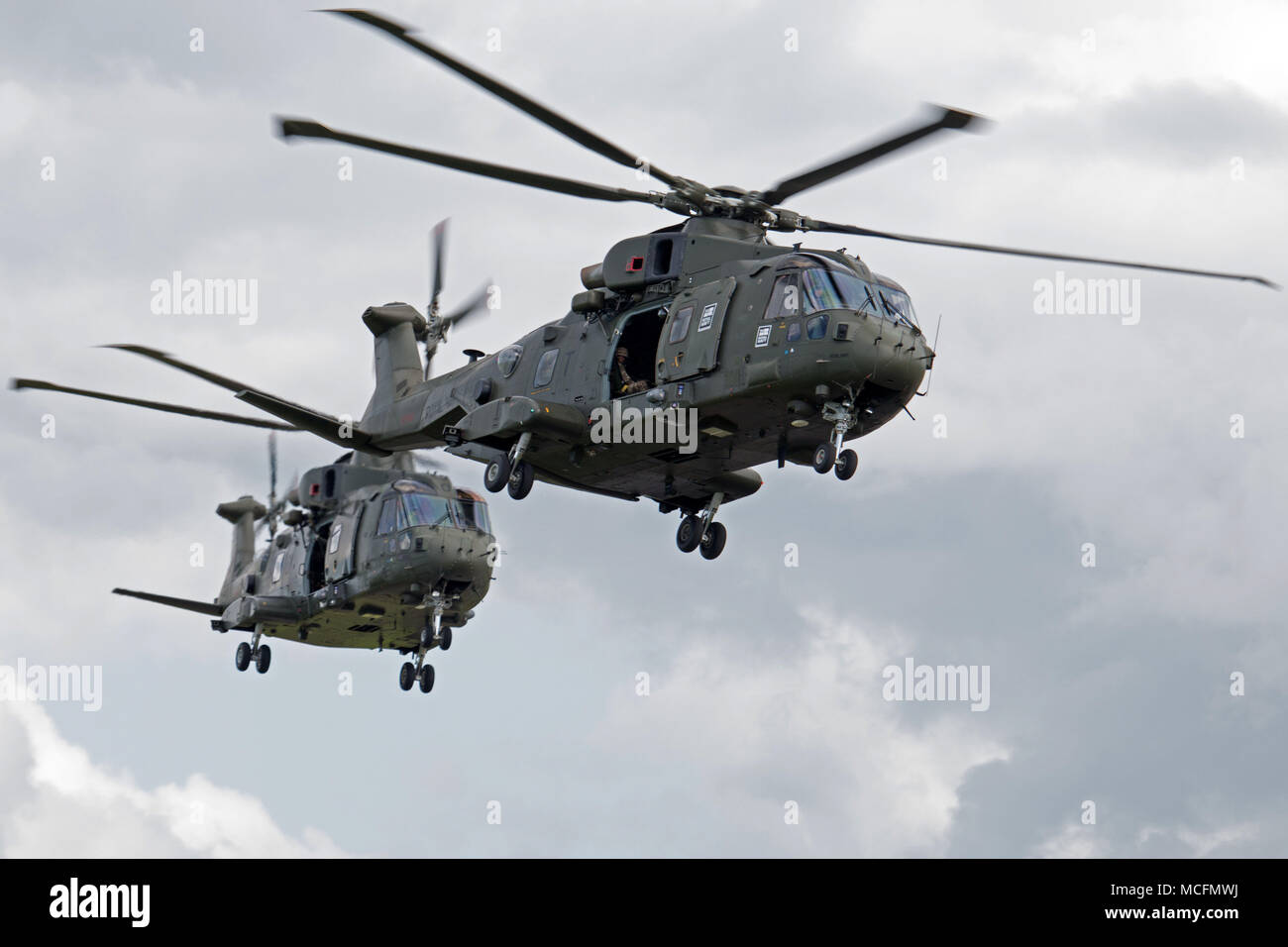 The Commando Helicopter Force Merlin HC mk 3/3A and 3i - Stock Image