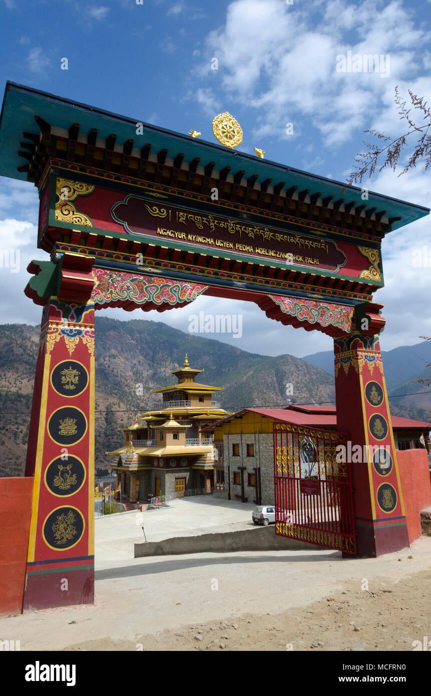 Ugyen Pema Woedling Zangthopelri Temple, Paro, Bhutan - Stock Image