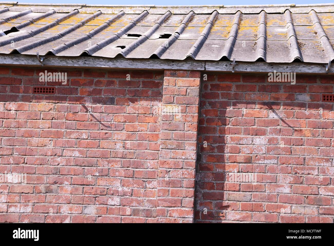 Brick wall texture, background - Stock Image