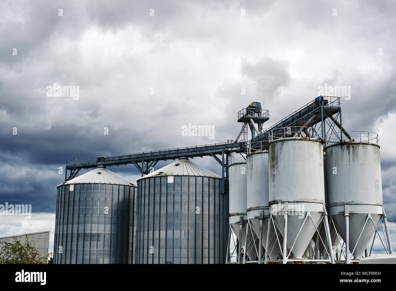 An agricultural grain silo - Stock Image
