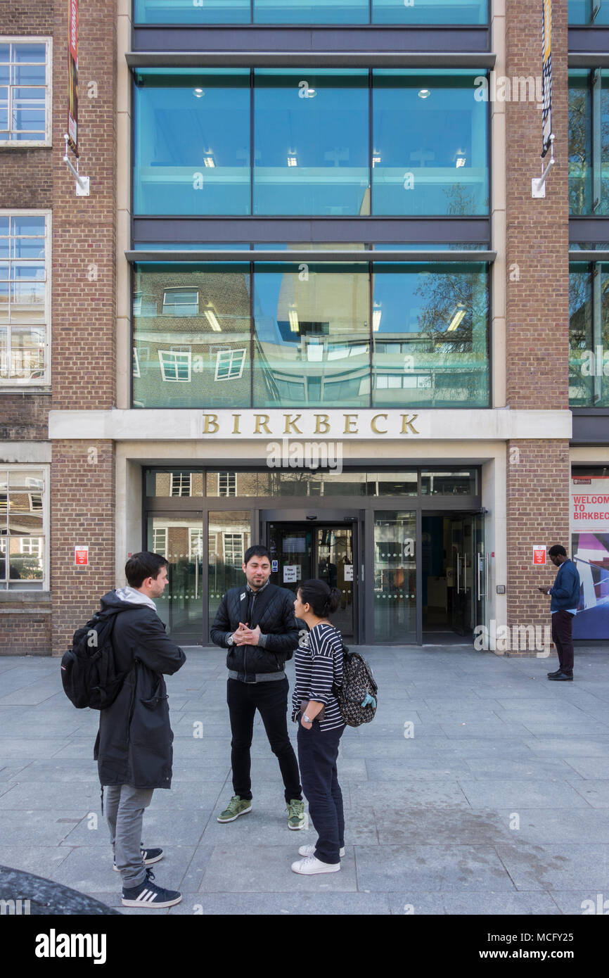 Birkbeck College, Malet Street, Bloomsbury, London WC1, UK - Stock Image