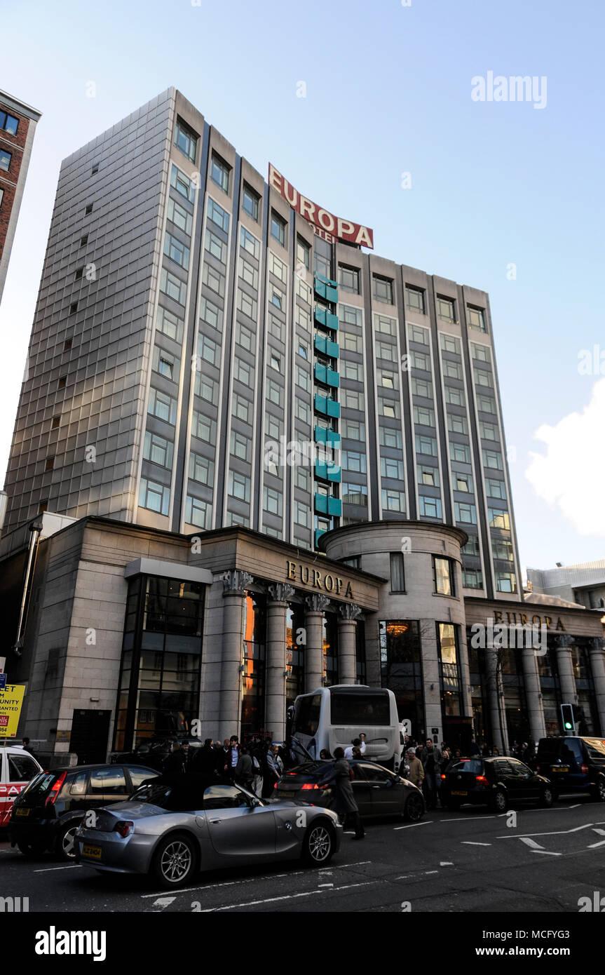 Europa Hotel in  Belfast, Northern Ireland - Stock Image