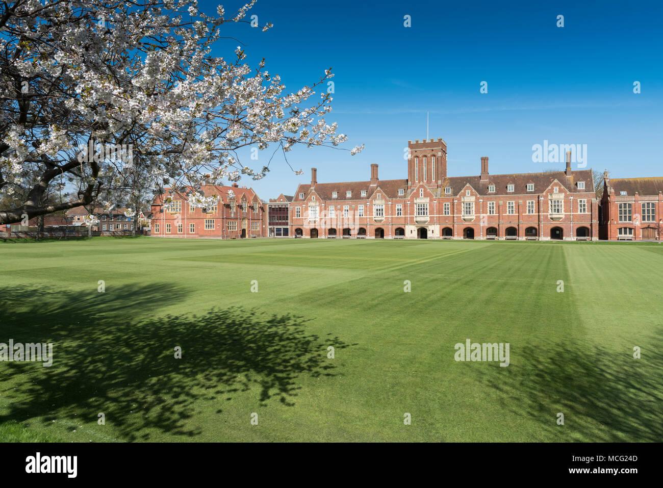 Eastbourne College, in Eastbourne, East Sussex, UK - Stock Image