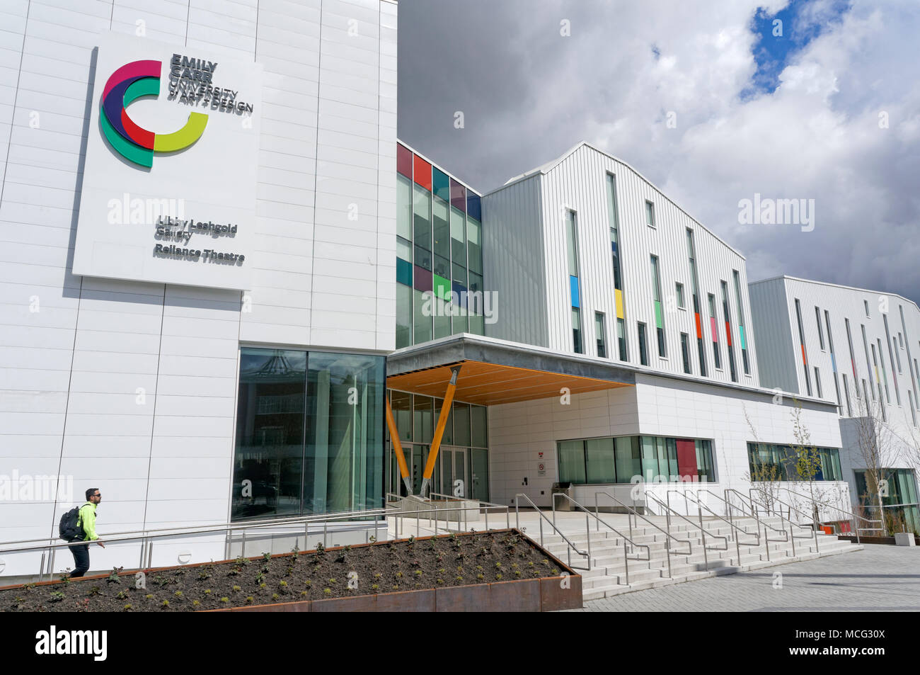 New campus of the Emily Carr University of Art and Design that opened in 2017 on Great Northern Way in Vancouver, BC, Canada - Stock Image