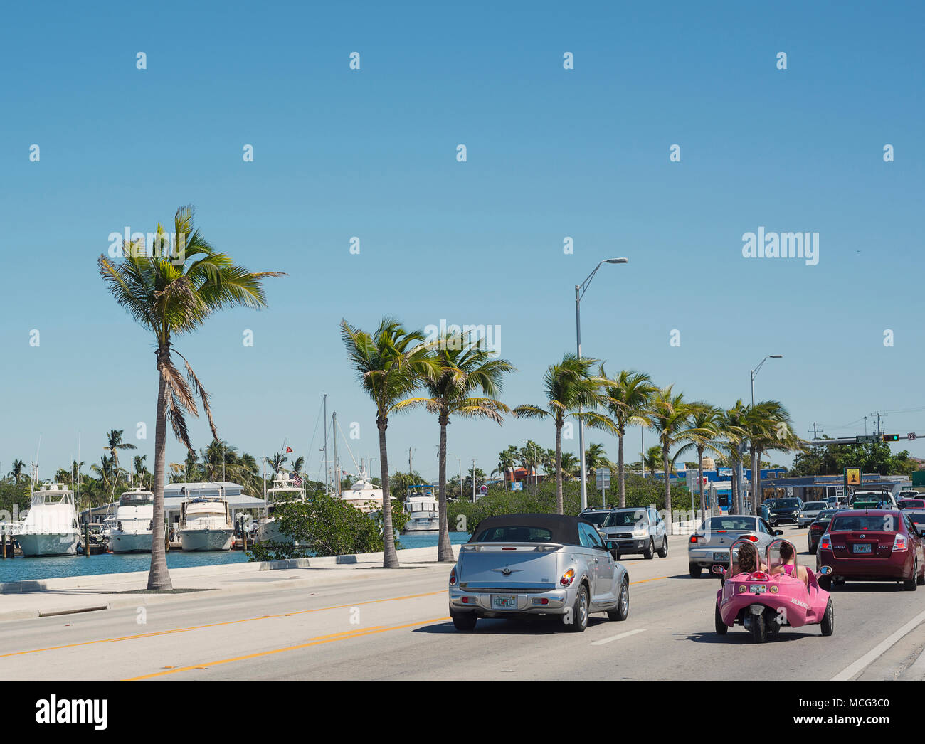 Traffic in Key West, Florida. - Stock Image
