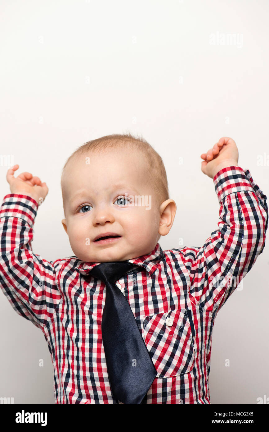 A ten month old baby boy. - Stock Image