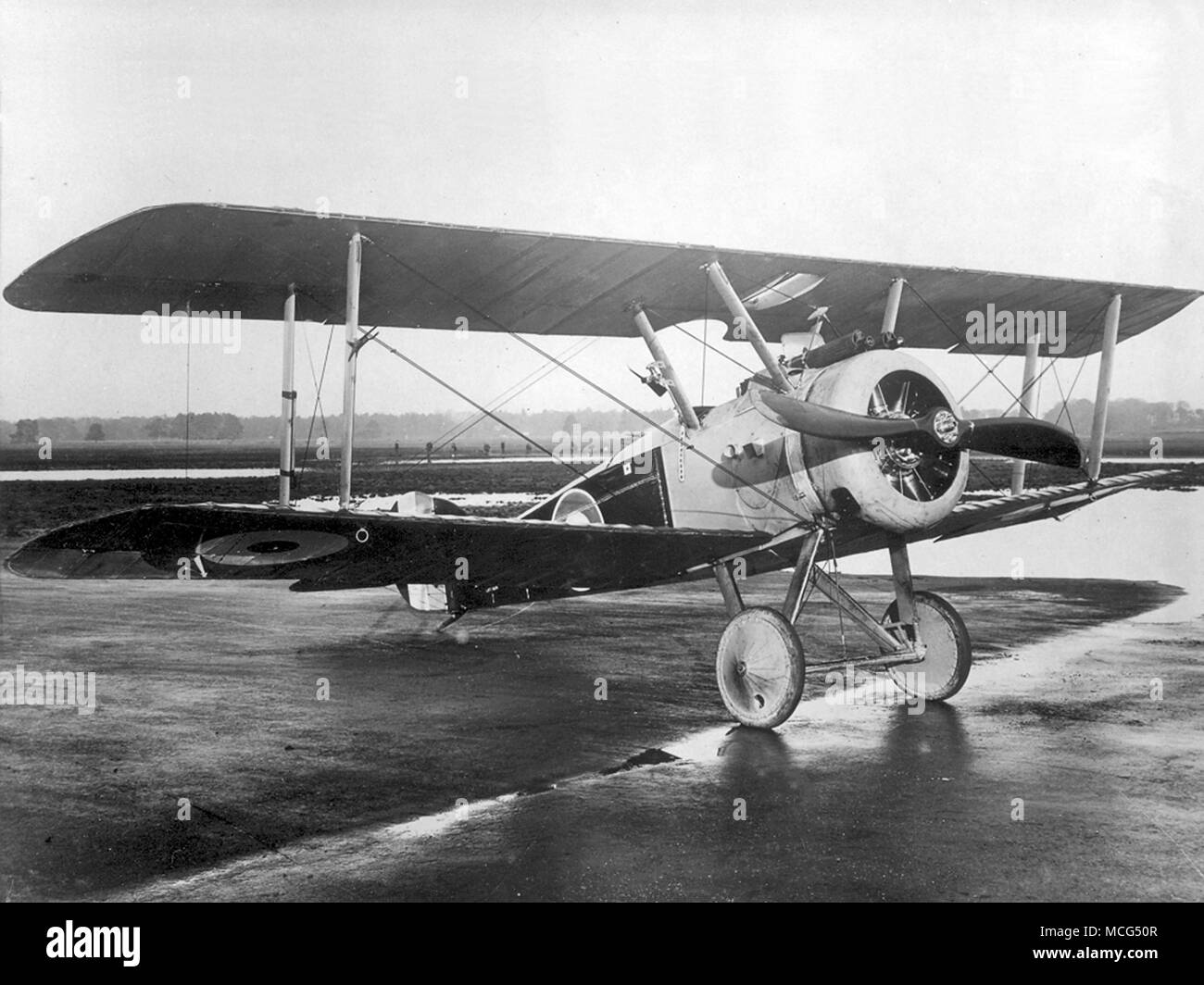 Sopwith Camel was a British First World War single-seat biplane fighter aircraft introduced on the Western Front in 1917 Stock Photo
