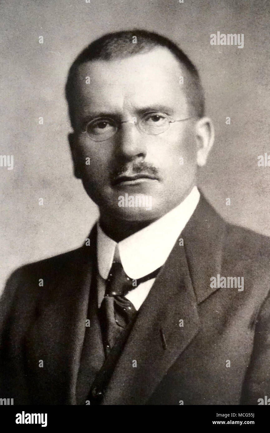 Carl Jung, Carl Gustav Jung (1875 – 1961) Swiss psychiatrist and psychoanalyst who founded analytical psychology - Stock Image