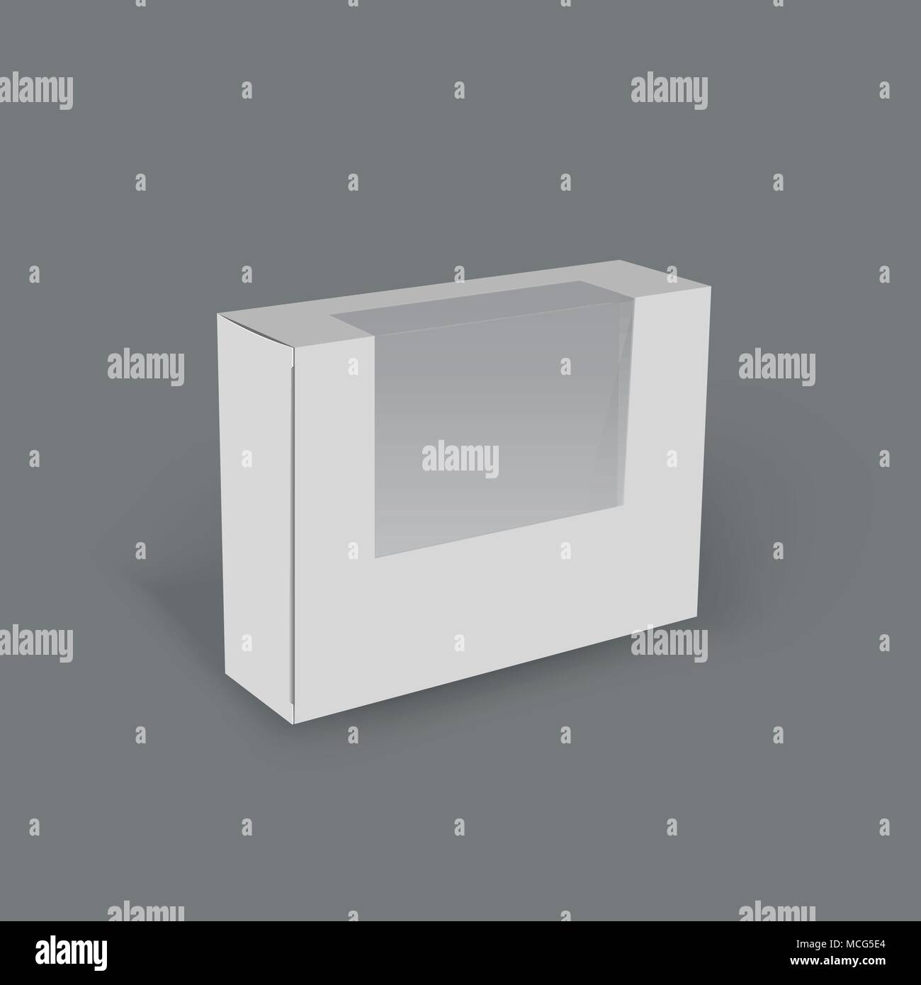 3d horizontal white box, product mock up template ready for your ...