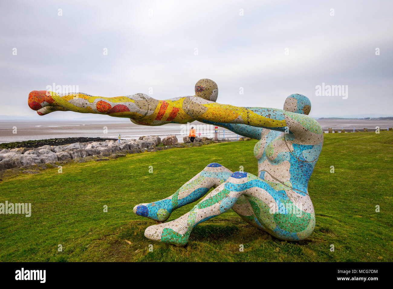 'Love, The Most Beautiful Of Absolute Disasters', popularly known as Venus and Cupid is a sculpture by Shane A. Johnstone.  Image taken on 11 April 20 - Stock Image