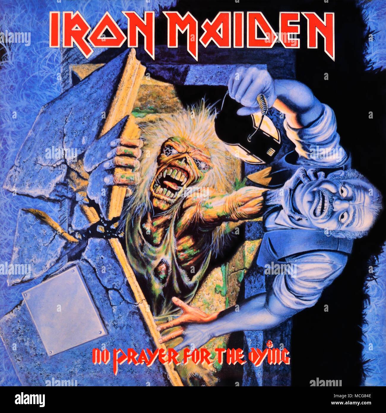91189c9b1 Iron Maiden original vinyl album cover - No Prayer For The Dying - 1990 -  Stock