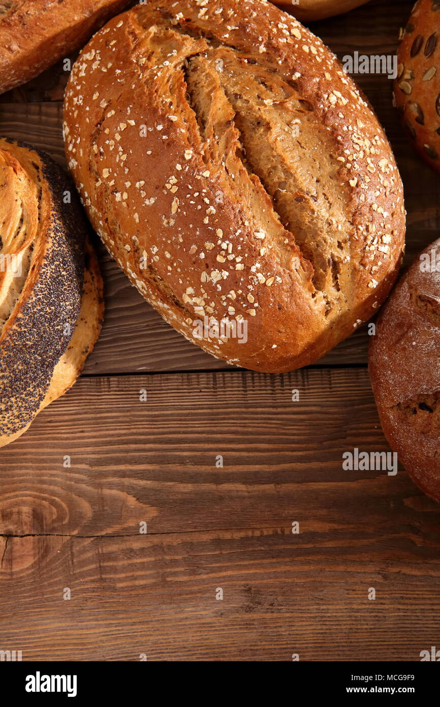 Bread and rolls nowadays occur in many types and shapes not only in Poland but in the world. Stock Photo