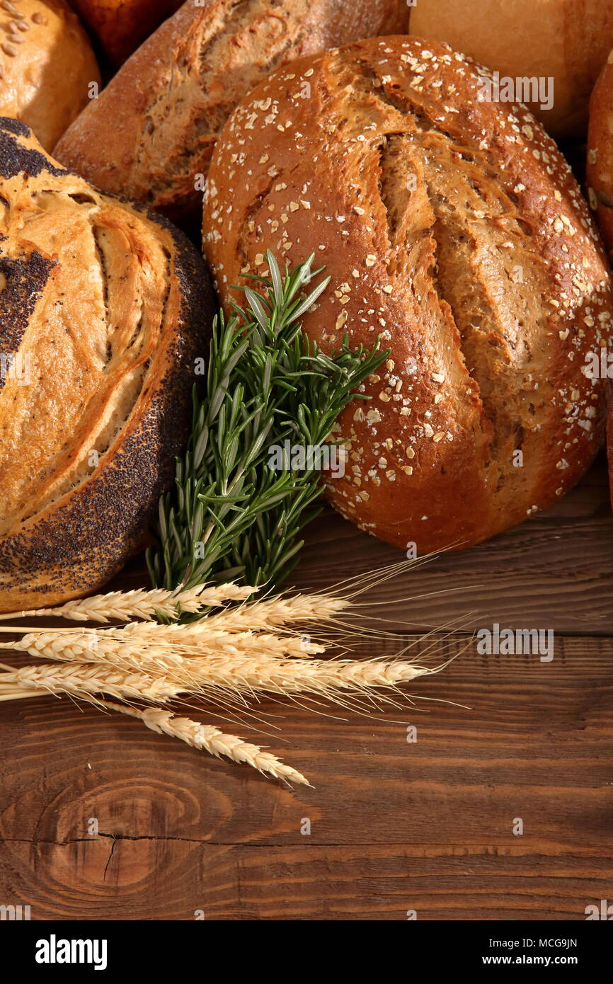 Bread and rolls at present times occur in many types and shapes not only in Poland but all over the world. Stock Photo