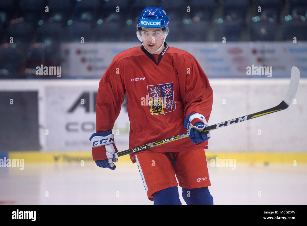 Pardubice Czech Republic 16th Apr 2018 Czech Hockey Player Filip