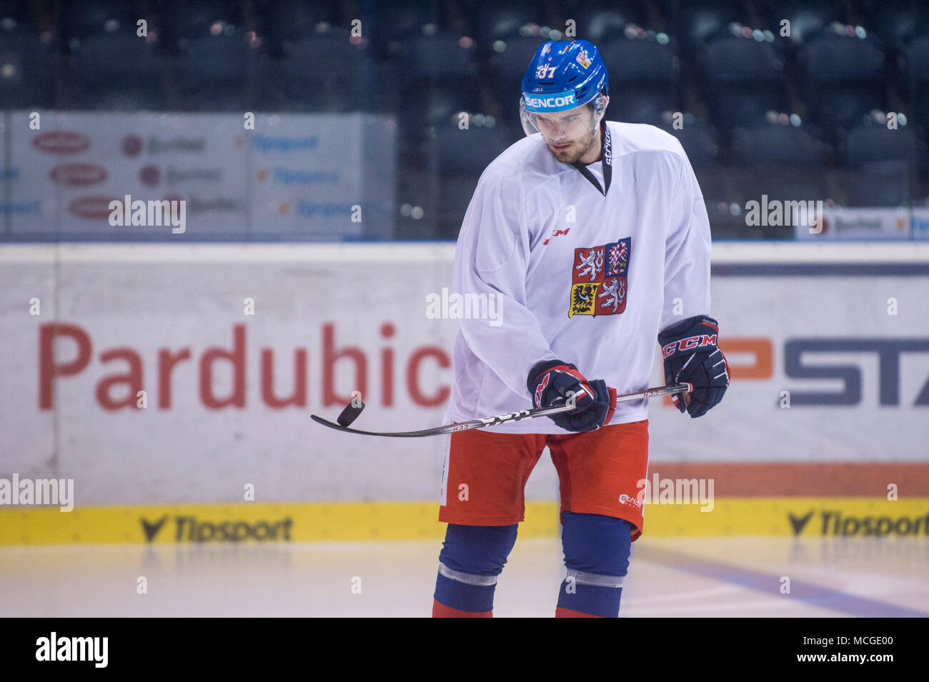 Pardubice Czech Republic 16th Apr 2018 Czech Hockey Player