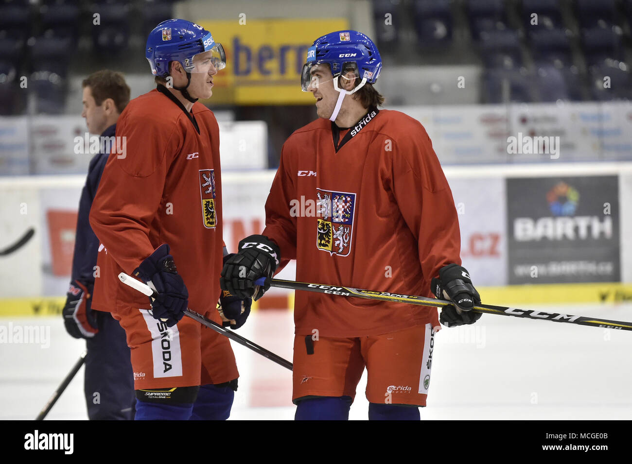 Pardubice Czech Republic 16th Apr 2018 Czech Hockey Players