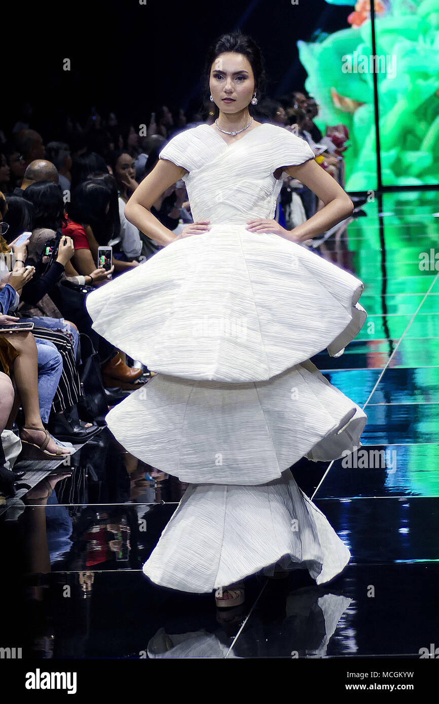 Mandaluyong City National Capital Region Philippines 12th Apr 2018 The Manila Fashion Festival Is Also About Introducing New Fashion Designers Giving Them An Opportunity In The Industry In Collaboration With Sofa School