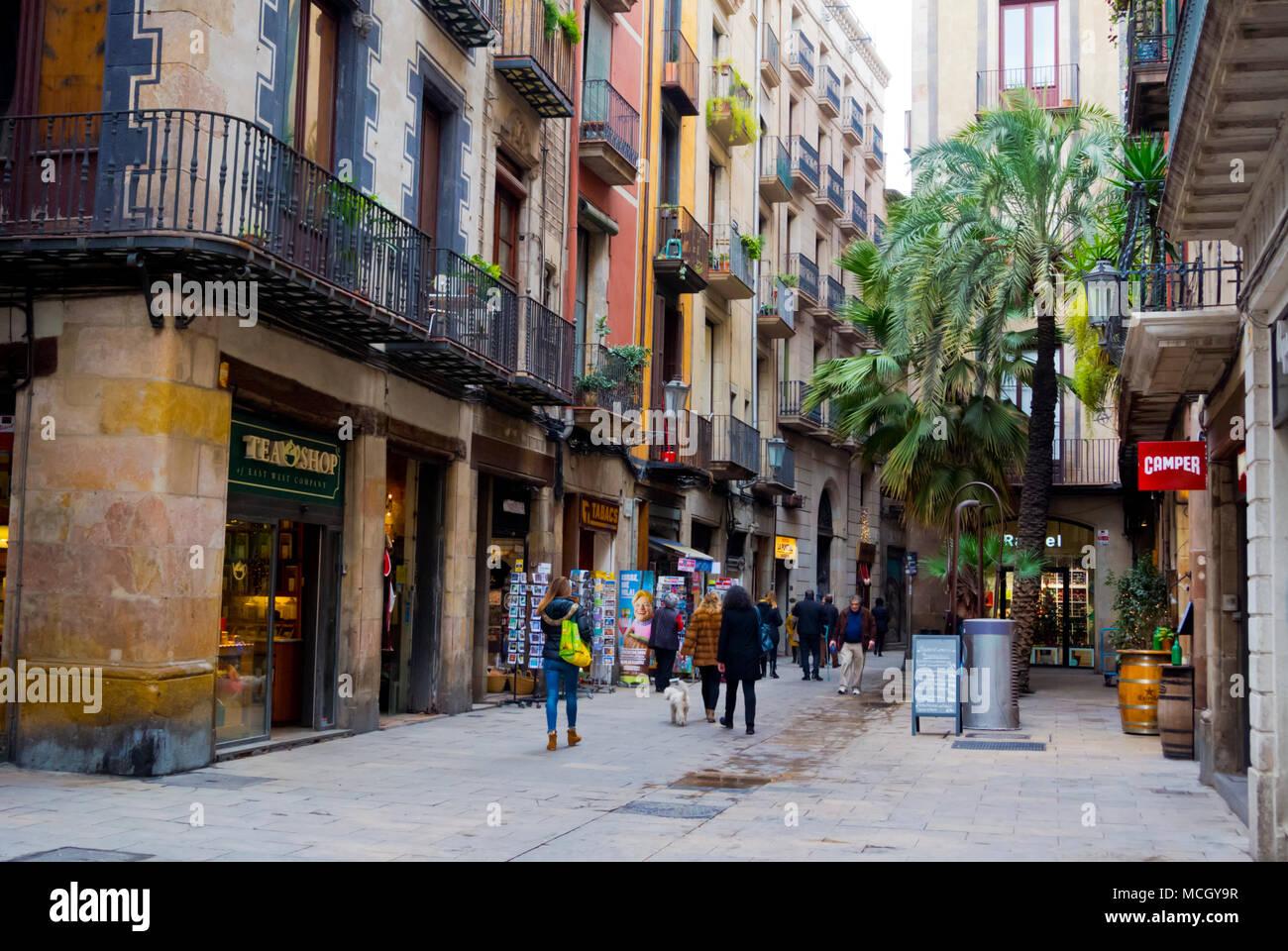 Placeta de Montcada, El Born, La Ribera, Barcelona, Catalonia, Spain - Stock Image