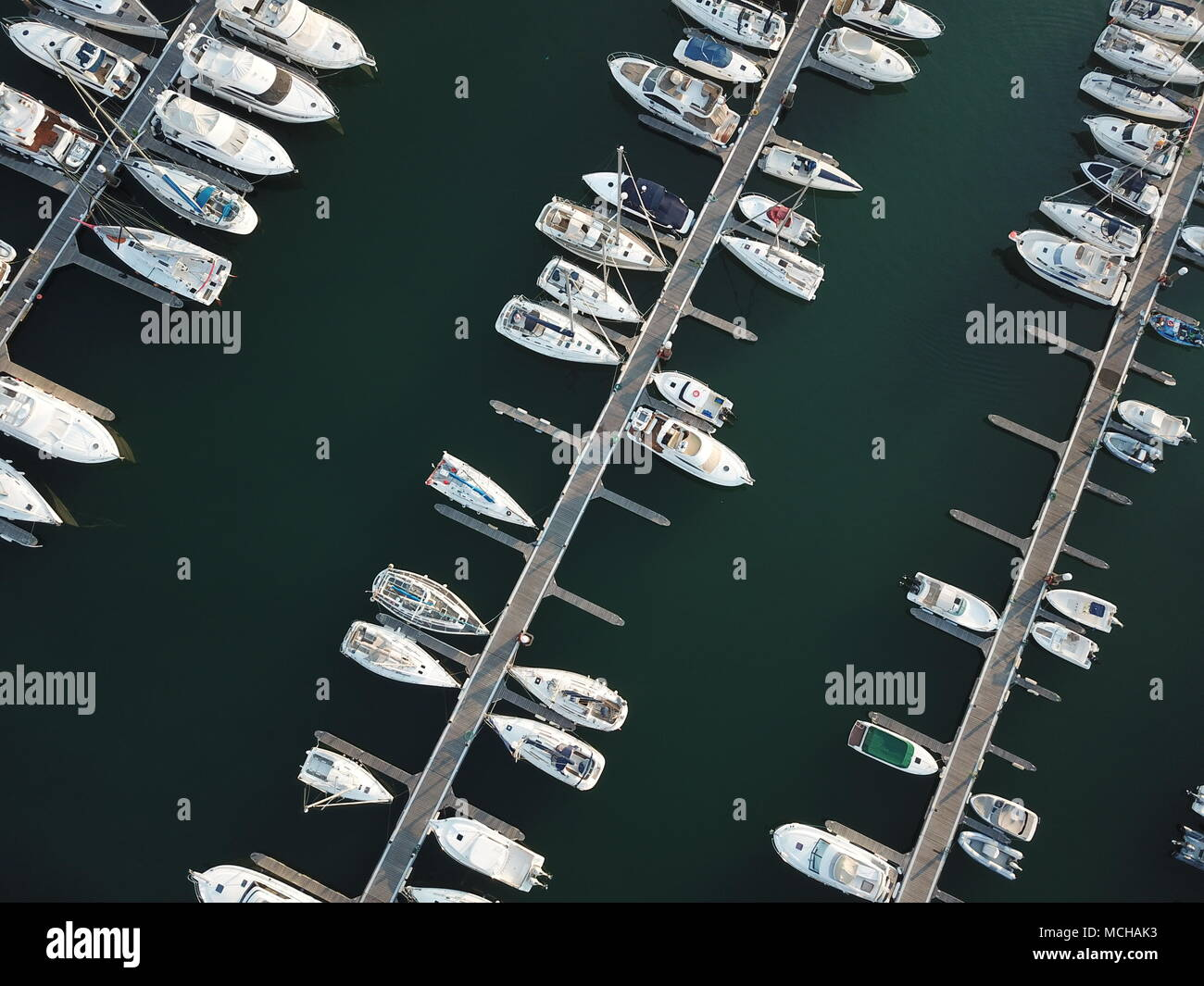 Harbour with sailing boats (Portugal, Estoril) - Stock Image