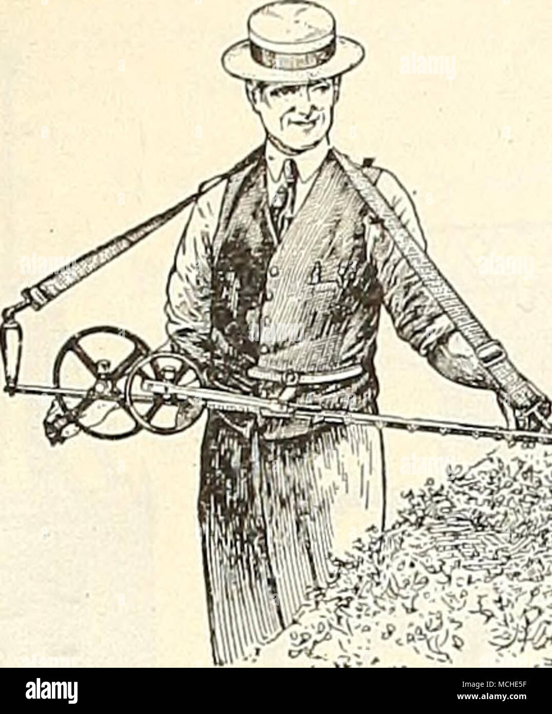 """. , ^f.^ Little Wonder Hedge Trimmer Hedge Trimmer, """"Little Wonder."""" An excellent machine for cutting new growth of hedges, doing the work many times faster than the ordinary hedge shears. With 30-in. cutting bar, $25.00; 40 in., $27.50; 60 in $35 00 ' Lawn clipper attachment for 30 in. or 40 in. machine... 18 00 Hedge Pruner and Hedge Trimmer, Sim- plicity. Cuts both opening and closing. Trim- mer, $4.00; trim- mer and pruner, $6.00. - Stock Image"""