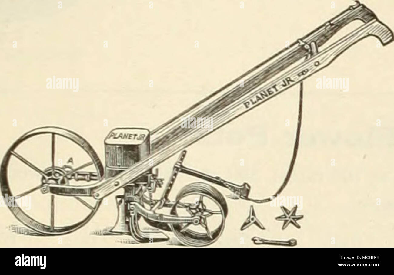 . No. 3 Planet Jr. Hill .nd Drill Seeder A popular size at a moderate price. The size used by growers excepting the very largest market gardeners $18 50 - Stock Image