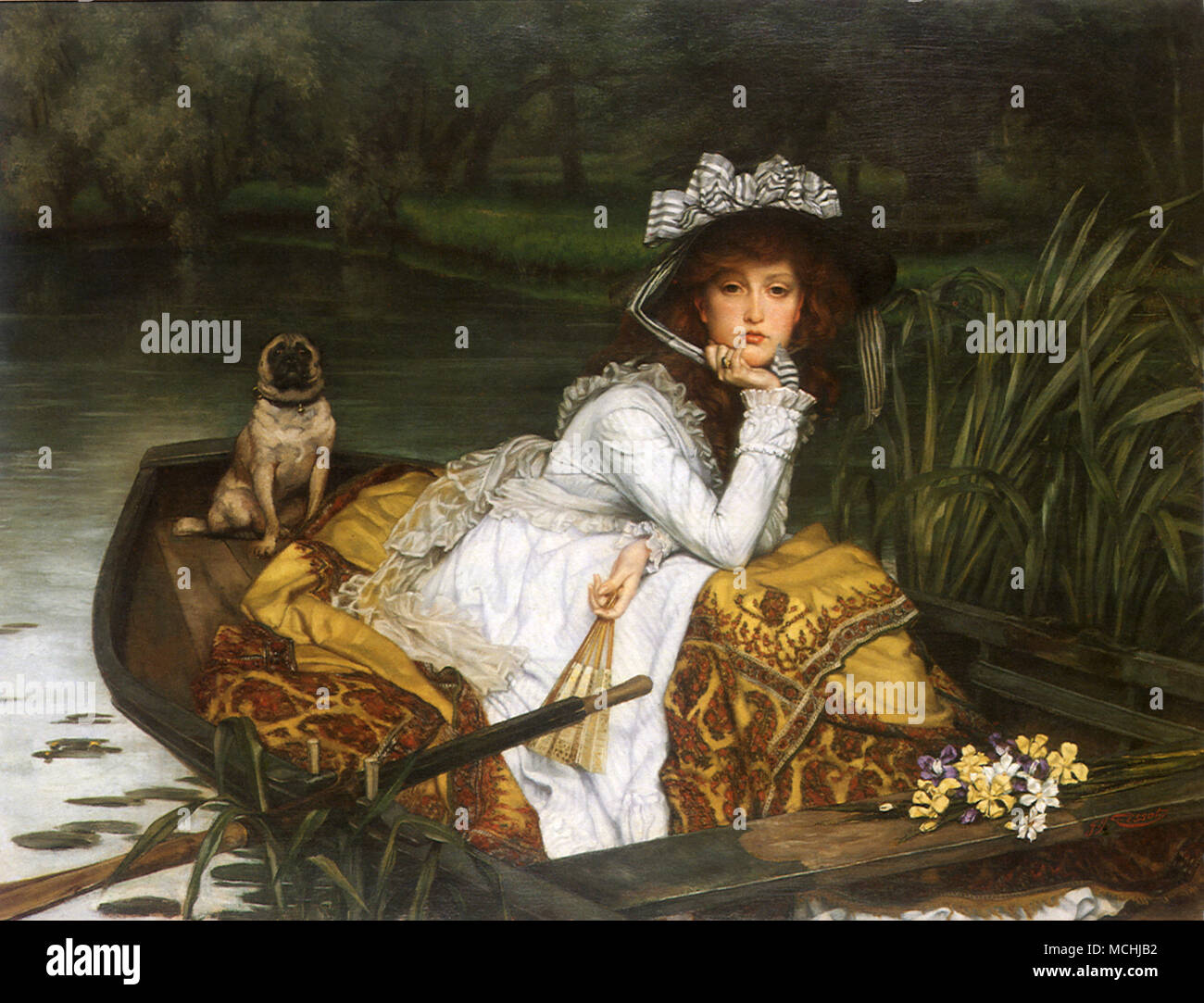 Young Lady in a Boat (Jeune Fille en Bateau) - Stock Image