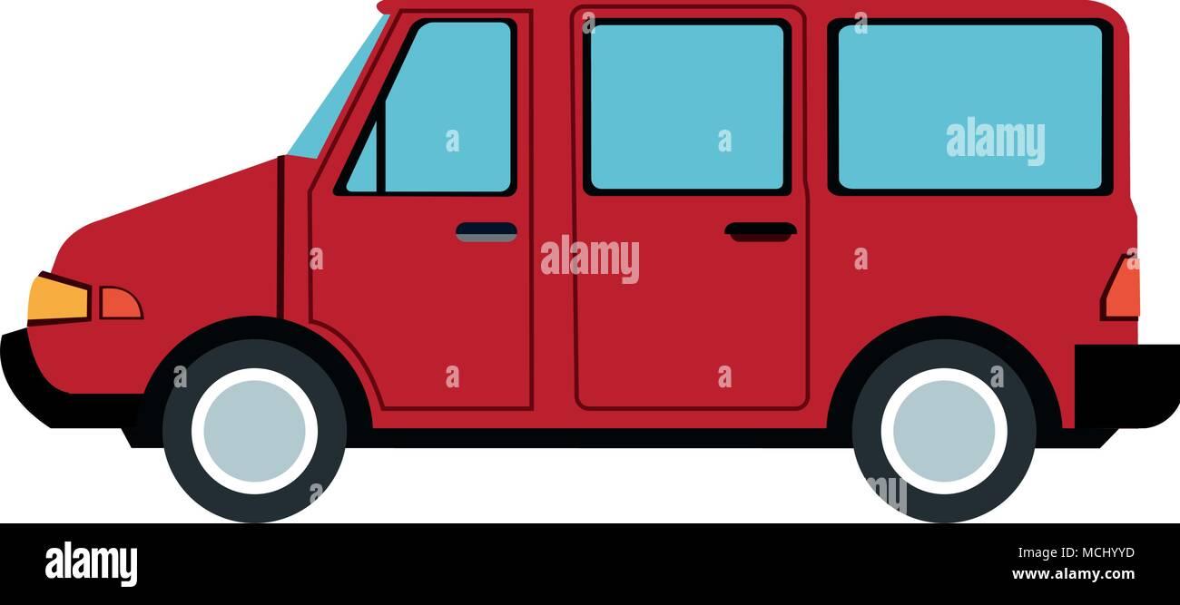 Van familiar vehicle - Stock Image