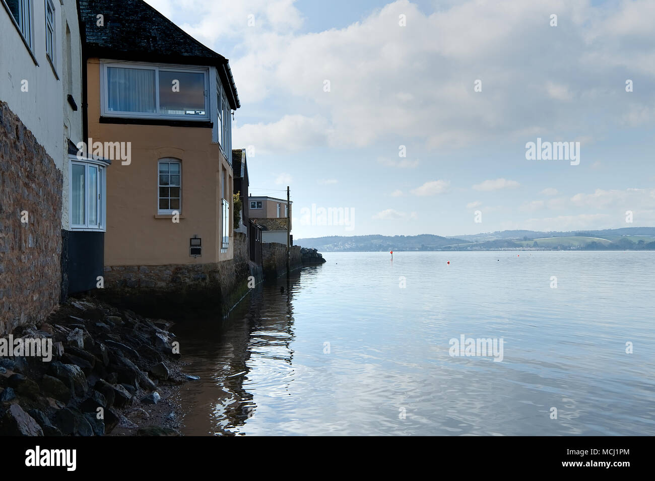 Living by the River Exe near Exeter in Devon, England. 21 March 2018 - Stock Image