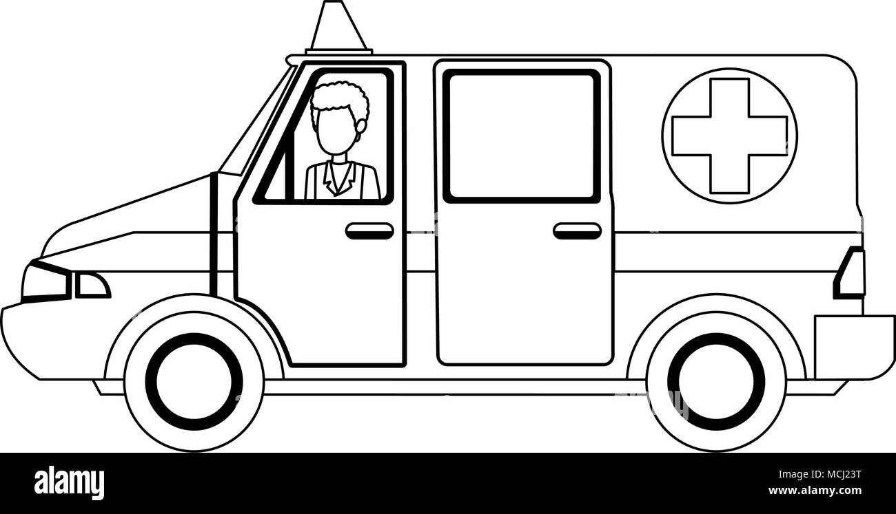 Ambulance Clip Art Black And White