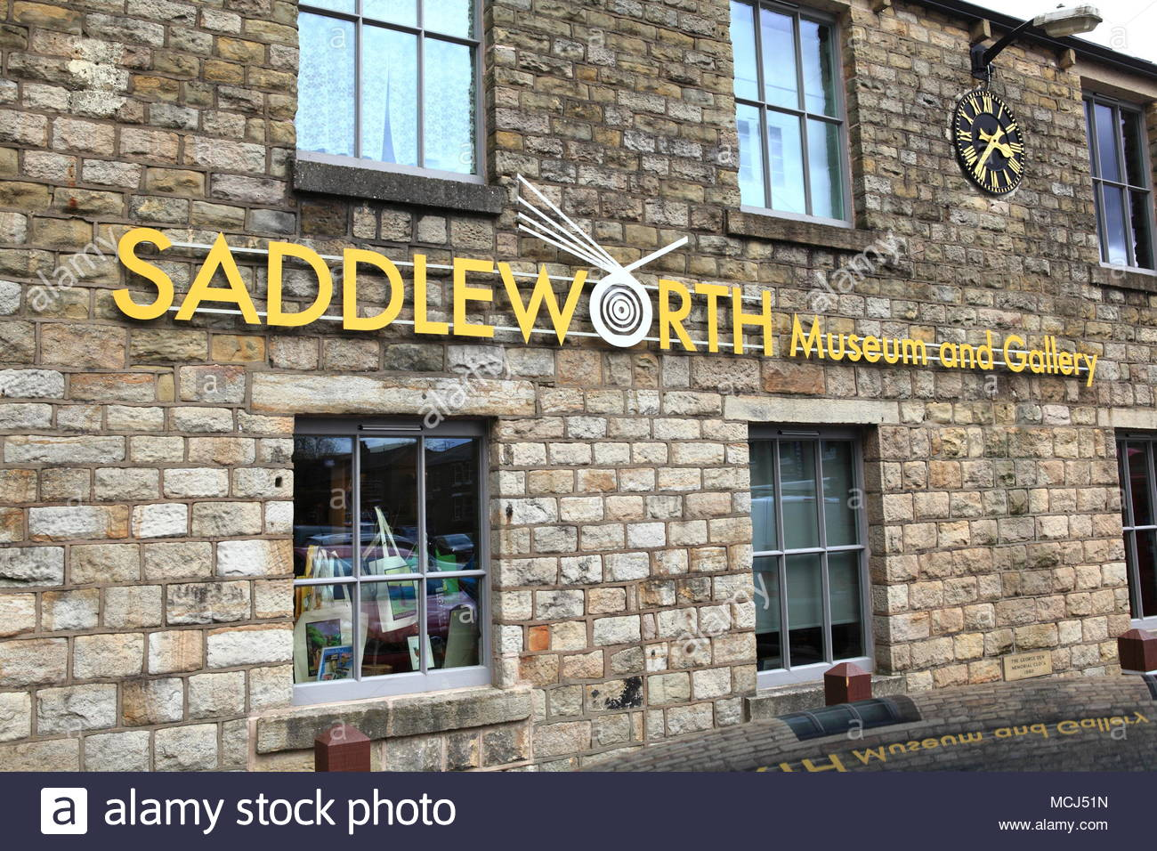 Saddleworth Museum And Gallery At Uppermill Oldham England April 2018 - Stock Image