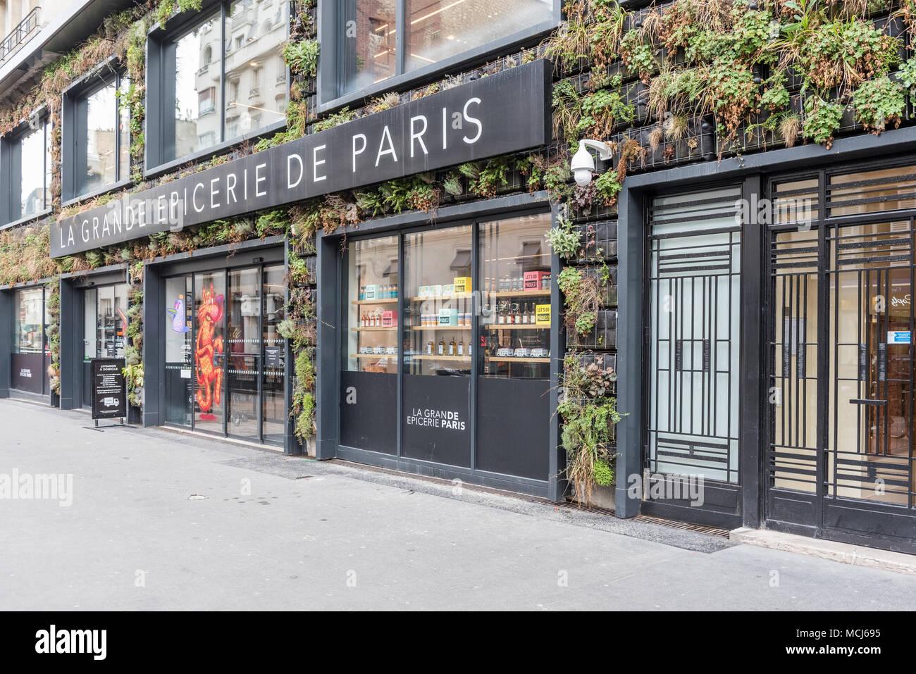 France, Paris - 31 March 2018: La grande epiceries de Paris - Rive droite 16eme Stock Photo