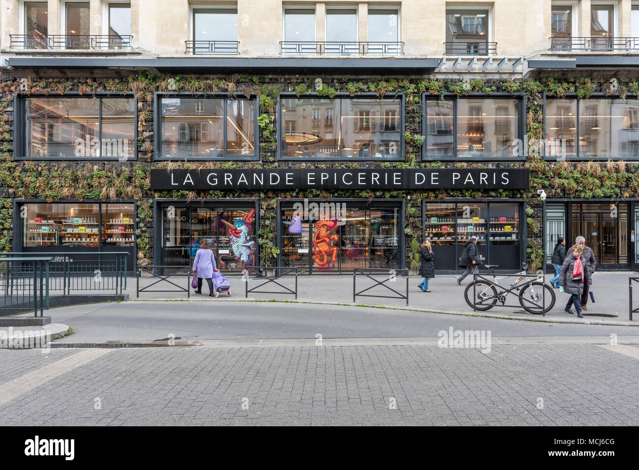 France, Paris - 31 March 2018: La grande epiceries de Paris - Rive droite 16eme Stock Photo