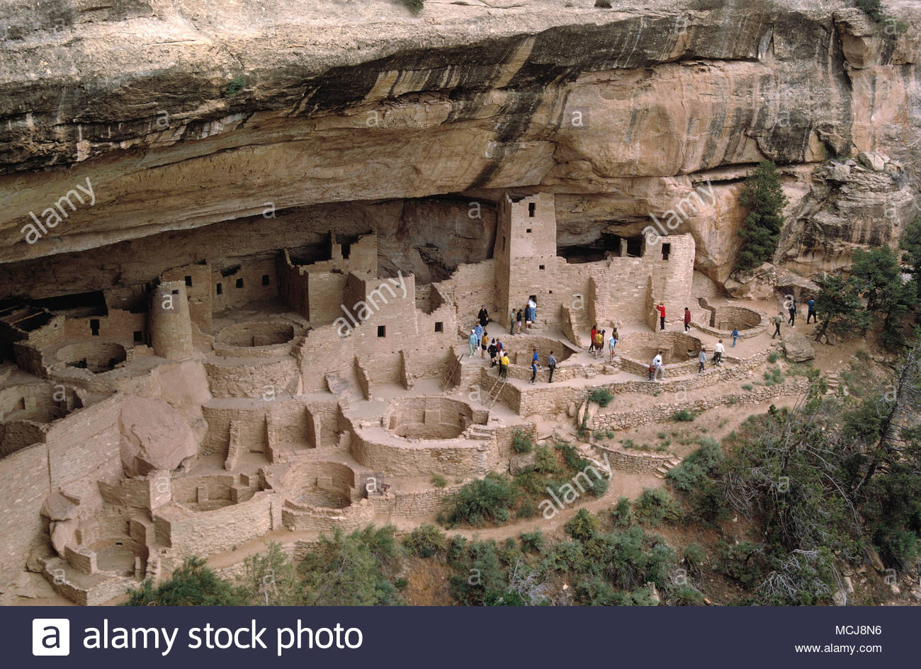 USA. Colorado. Mesa Verde National Park. Ancestral Puebloan cliff dwellings. - Stock Image