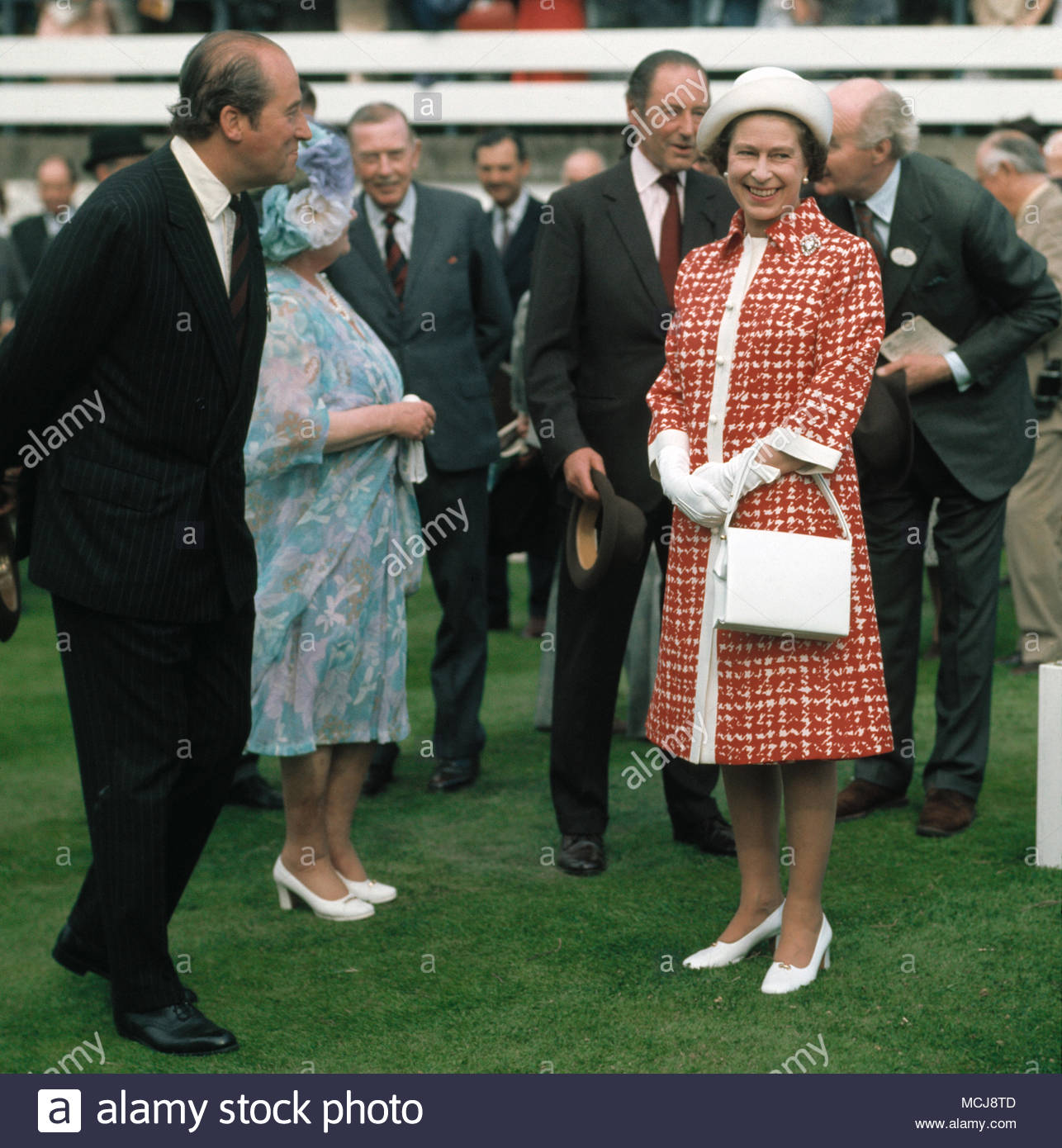 Her Majesty, Queen Elizabeth II at Royal Ascot racecourse. 1977-07-23. - Stock Image