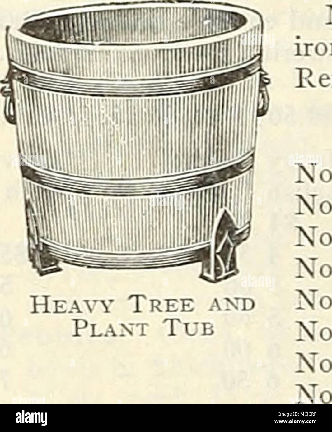 HEAVY TREE AND PLANT TUBS IVIade Of White Cedar Painted Green And Bound With