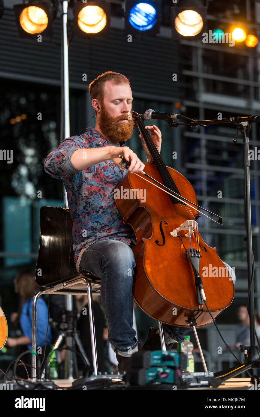 The American musician Wes Swing live at the Blue Balls Festival, KKL Plaza Lucerne, Switzerland - Stock Image