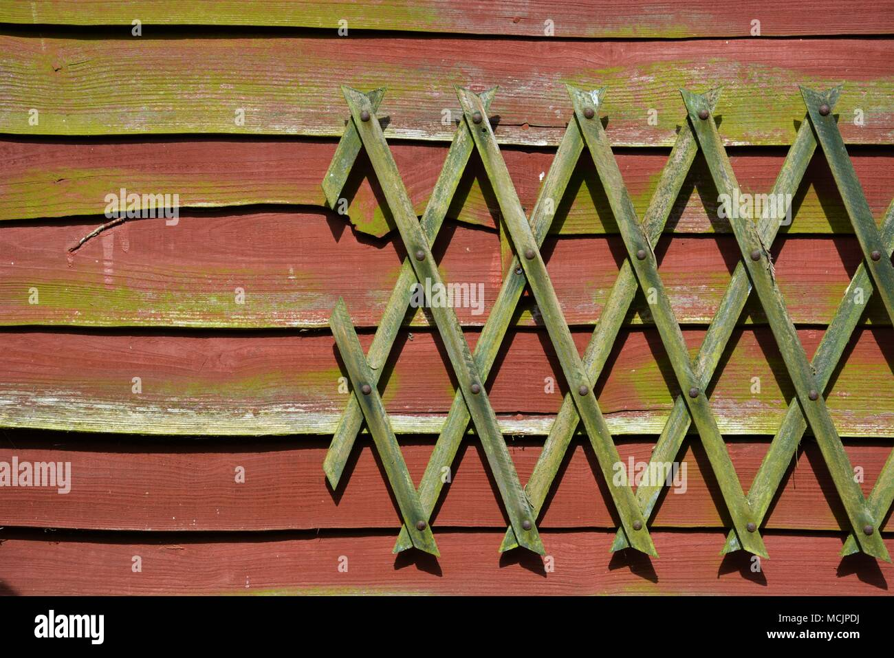 Mossy Wooden Fence Stock Images - Stock Image