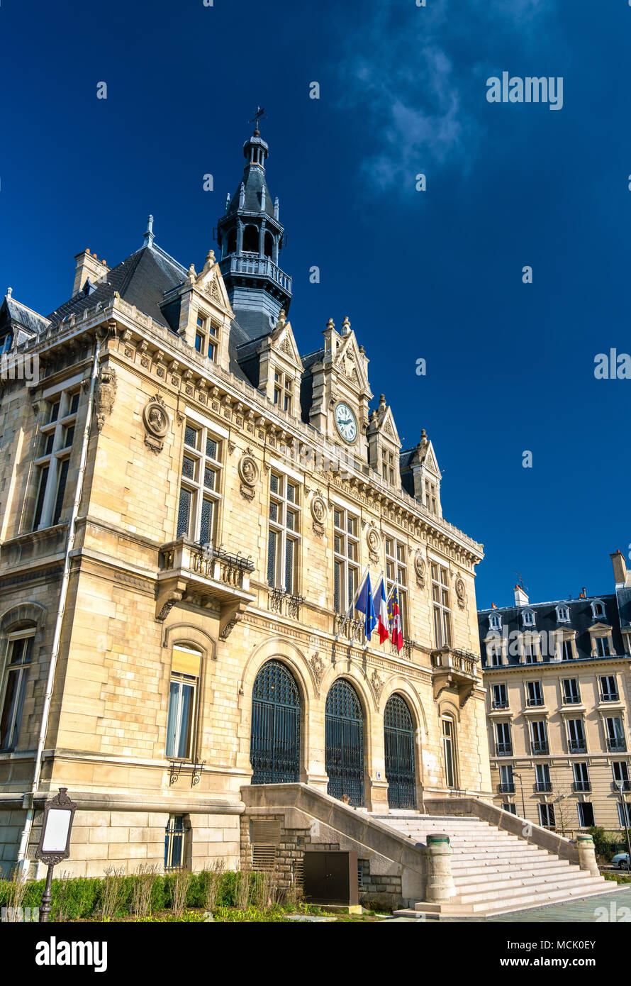 Mairie de Vincennes, the town hall of Vincennes near Paris, France - Stock Image