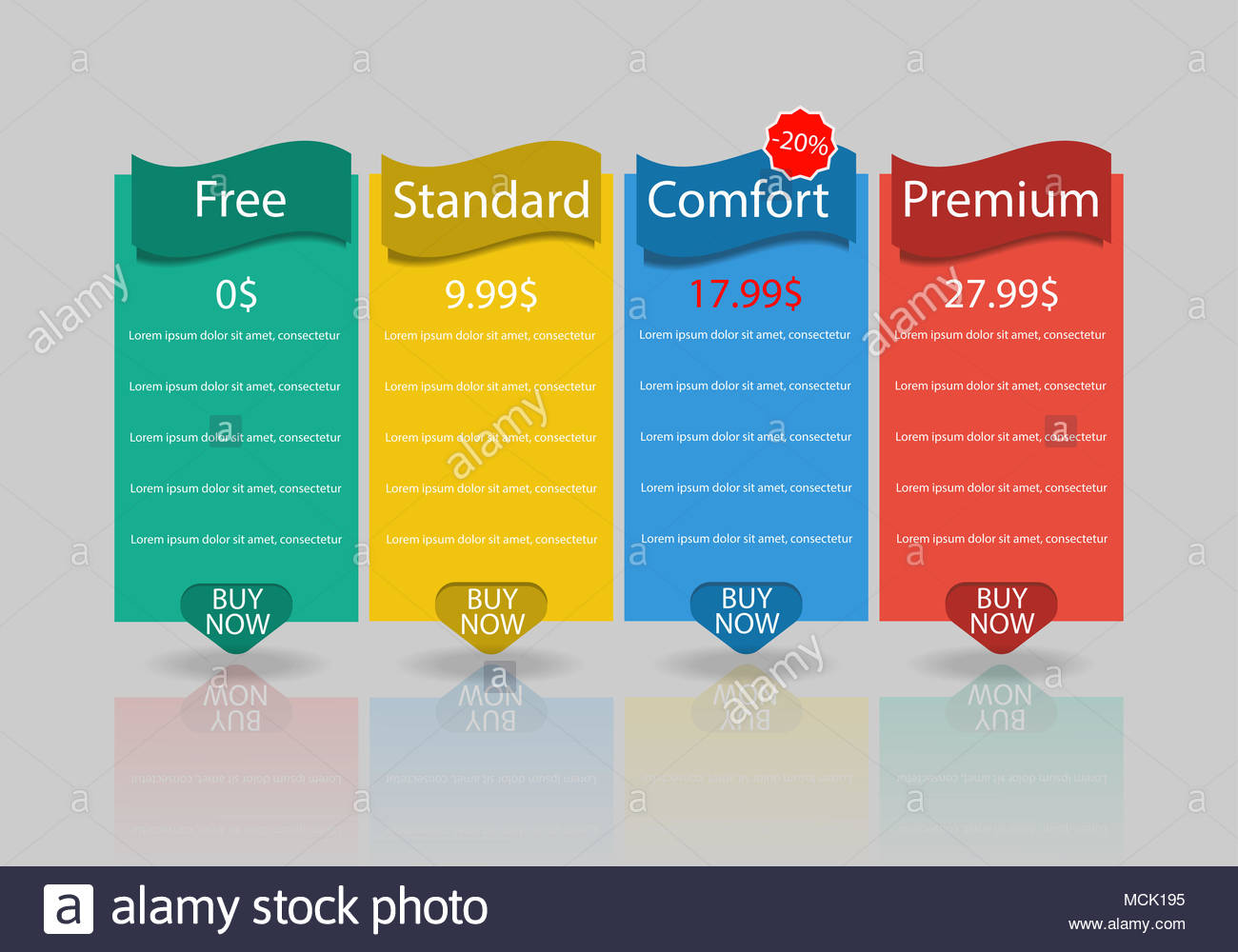 pricing plan template stock photos pricing plan template stock