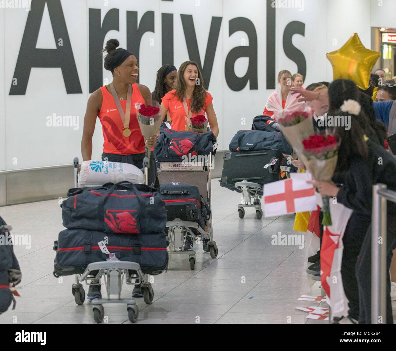 Airport Kia London >> Members Of The England Women S Netball Team Which Won A Gold