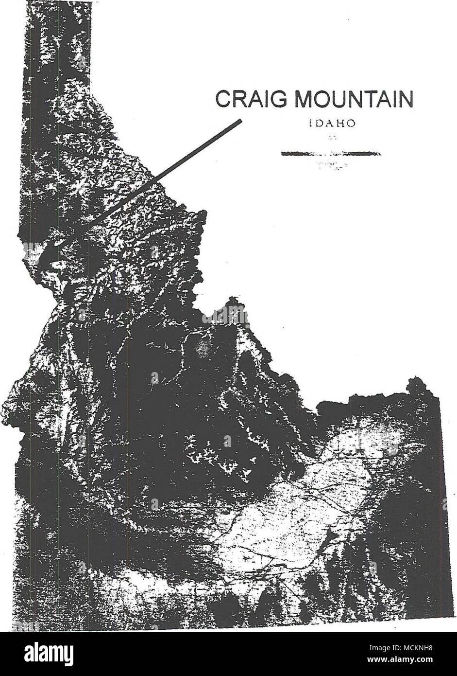 . Figure 1. Map of Idaho (Idaho Atlas and Gazetteer 1992) - Stock Image