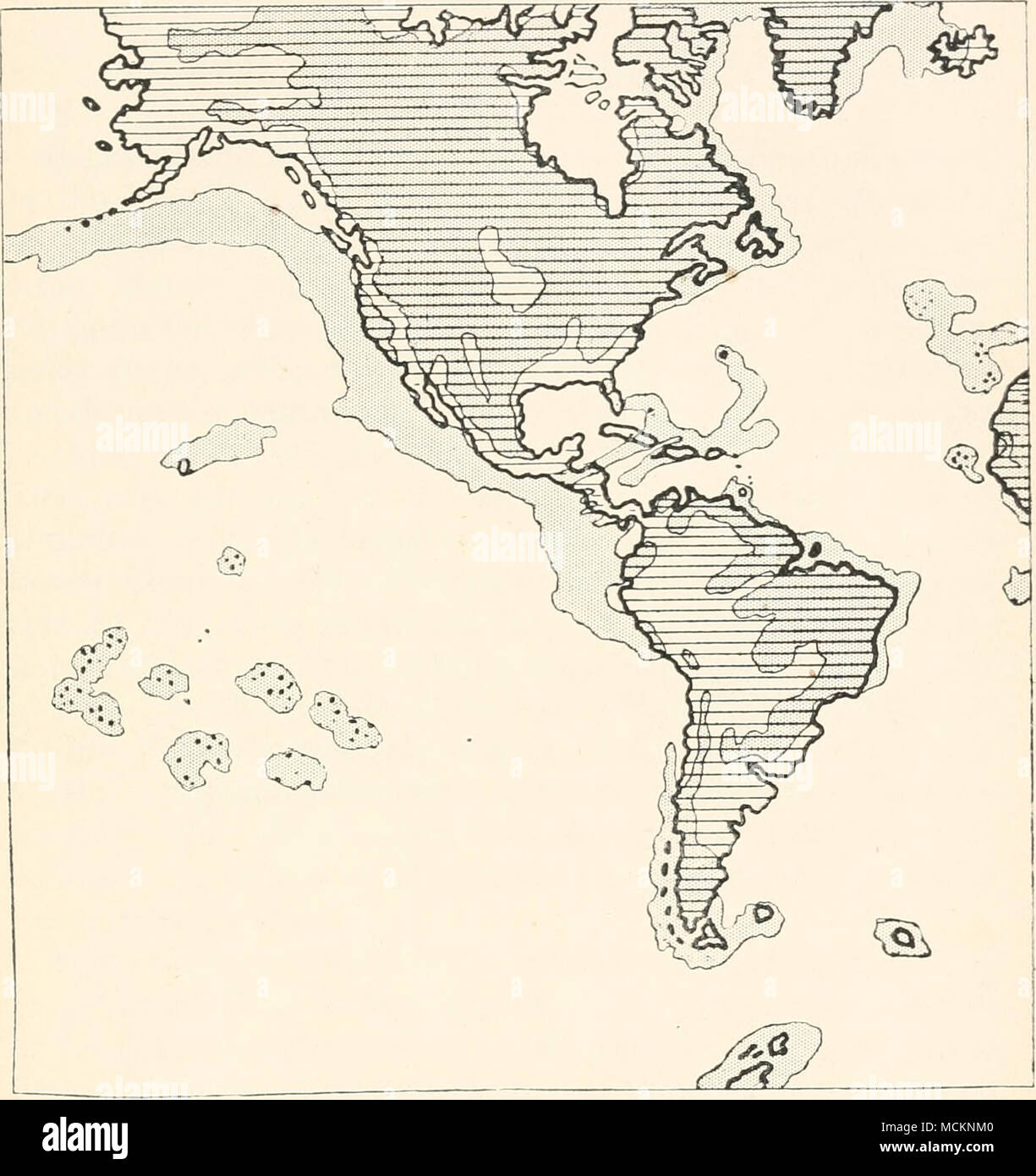 Fig 16 Map Of North And South America Indicating Roughly The
