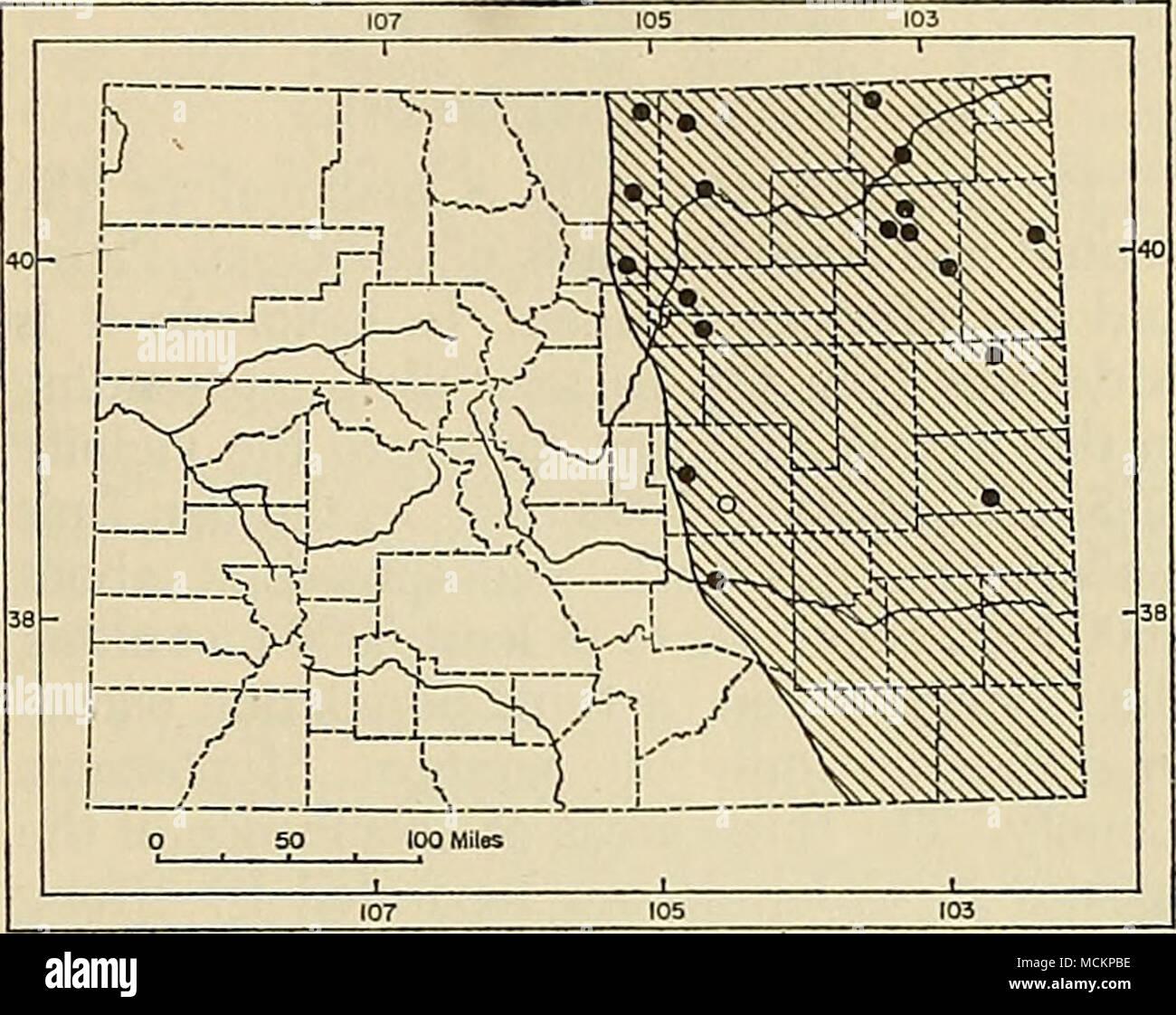 Fig  59  Distribution of Perognathus flavescens flavescens