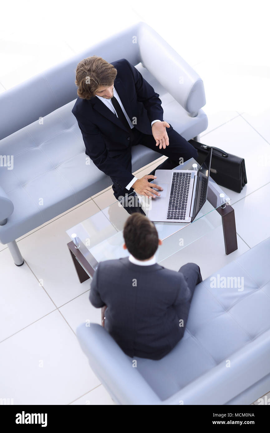 business people talking on meeting at office - Stock Image