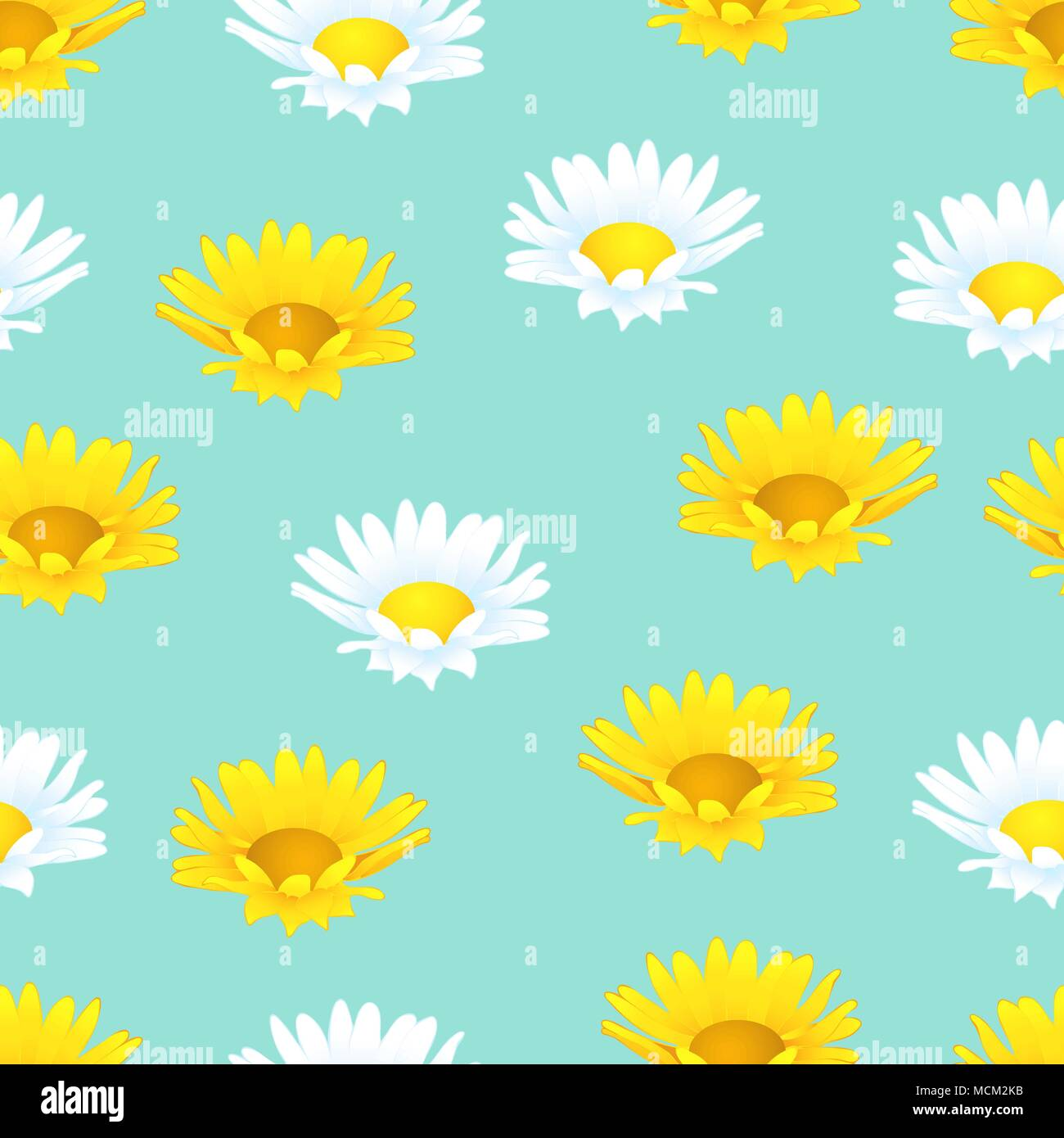 Flowers Seamless Pattern Floral Background Buds Of Yellow And