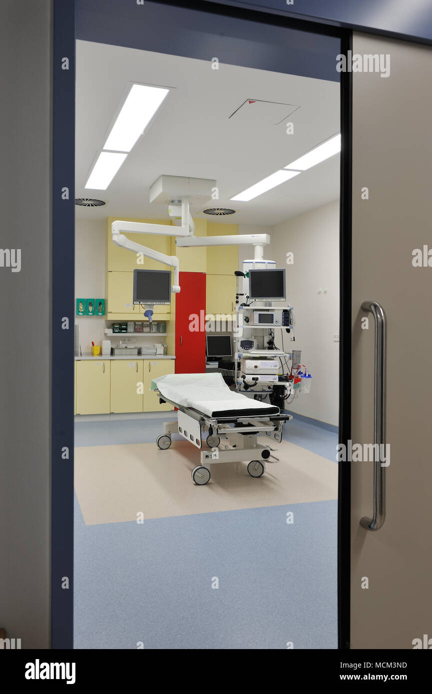 technical equipment on intensive care unit Stock Photo