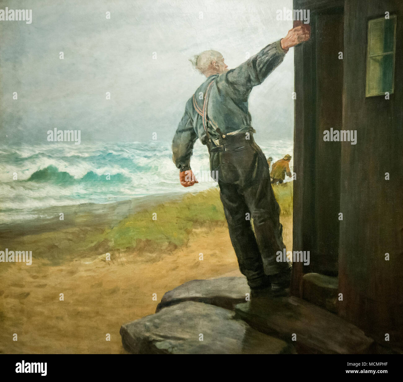 Christian Krohg - Distress signal - Stock Image